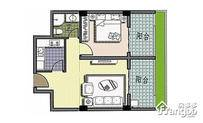 聚园新天地1室2厅1卫户型图