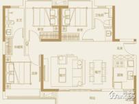 融创月湾首府3室2厅2卫户型图