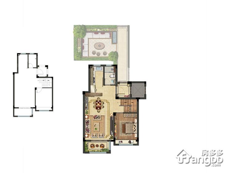 上坤樾山半岛4室2厅3卫户型图
